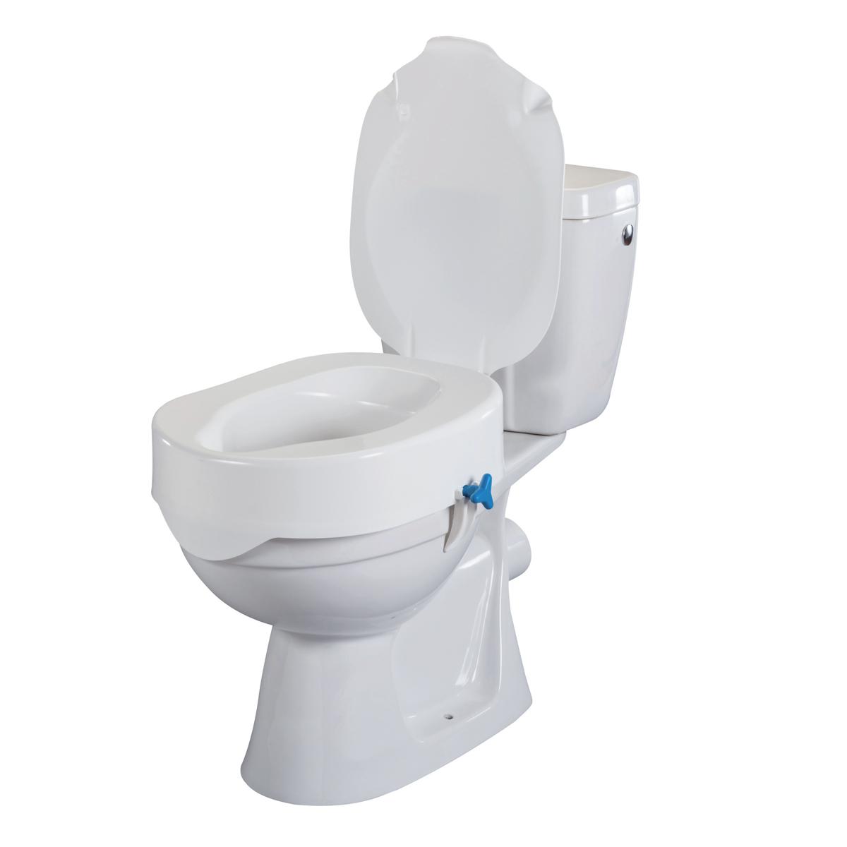 oxypharm rehausse de wc rehotec 10 cm avec ou sans couvercle. Black Bedroom Furniture Sets. Home Design Ideas